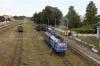 UZ NG TU2-179 at Haivoron with a load 3 rake after arrival with 6272 0405 Rudnytsia - Haivoron; meanwhile TU2-263 waits to depart with its 1 coach train as 6290 0800 Haivoron - Holovanivsk