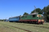 UZ NG TU2-263 shunts its stock at Holovanivsk after arrival with 6290 0800 Haivoron - Holovanivsk and on the big gauge UZ ChME3-3617 forms the connecting train to Pomichna; 6170 1055 Holovanivsk - Pomichna
