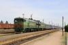 UZ 2TE10UT-0030a/b at Snihurivka with 298 2152 (P) Kyiv Pas. - Kherson