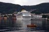 On board the MS Vingtor bound for Balestrand - departing Bergen harbour