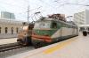 ADY VL10-1574 stands at Baku after arriving with 665 1850 (P) Boyuk-Kasik - Baku while ADY E4S-345V stands alongside having arrived with the combined 97 2130 Aghstafa/2050 Gazakh - Baku