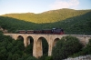 OSE's Schoema 1999 built CFL200BB No.5532 (OSE No. DA1) runs over Kalorema Viaduct during a photo-stop with 7802 0800 Ano Lechonio - Milies leg of the PTG 2015 Greece Tour