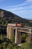 OSE MLW MX627 A466 performing a photo run-by at Gorgopotamos Bridge with 7519 1330 Volos - Athens leg of the PTG 2015 Greece Tour