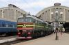 UZ 2M62-0999a/b wait to depart Lviv with 606K 1546 Lviv - Rakhiv