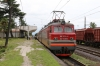 SR 10-695 waits departure from Natanebi with 11 0920 Ozurgeti - Tbilisi after running round its train
