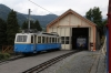 MOB Bhe2/4 #203 on shed at Glion on the Rochers de Naye line