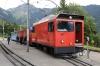 MOB new loco Hem2/2 #11 waits to depart Caux with the La Belle Epoque Summer service, 1615 Rochers de Naye - Montreux