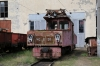 SR ChS11-001 on shed at Borjomi Freight