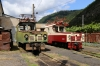 SR ChS11-004 & ChS11-008 on shed at Borjomi Freight