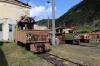 SR ChS11-001, ChS11-004 & ChS11-008 on shed at Borjomi Freight