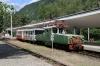 SR ChS11-002 waits to depart Borjomi Freight with 6469 1055 Borjomi Freight - Bakuriani