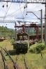 SR ChS11-09 with a works train in Borjomi Freight Yard