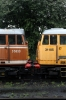 Network Rail's 31105 & T1LA's 31563 stand at Loughborough during the GCR Diesel Gala