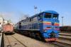 UZ 2TE10M-2416a/b at Chernivtsi after arrival with 136 1421 (P) Bilhorord-Dnistrovskyi - Chernivtsi