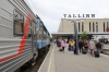 Go Rail TEP70-0320 at Tallinn after arrival with 033X 2215 (P) Moskva Okt - Tallinn