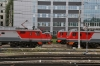 Moskva Kazansky, Russia - electrics stabled outside the station