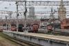 Moskva Kazansky, Russia (L-R) - EL20-024, ChS7-277 & EL20-023 wait to depart with services