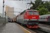 RZD ChS7-053 waits to depart Moskva Rizhsky with 001P 1705 Moskva Rizhsky - Riga