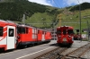 MGB Deh4/4I #53 at Andermatt after arrival with 530 1108 Visp - Andermatt with classmate #51 arriving with 643 1311 Goeschenen - Andermatt