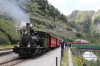 DFB steam loco HG2/3 #6 waits to depart Gletsch with 158 1515 Gletsch - Realp