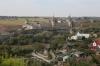 Ukraine, Kamianets Podilskyi - Kamianets Podilskyi Castle seen from a viewpoint off Frantsyskanska Street