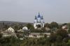 Ukraine, Kamianets Podilskyi - St George's Church seen from a viewpoint off Frantsyskanska Street