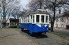 Ukraine, Chernivtsi - old tram car near Chernivtsi railway station