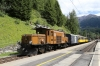 RhB Ge6/6I #414 stands at Bergun during a break with 2162 1425 Samedan - Landquart Summer Sunday Special