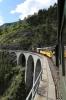 RhB Ge6/6I #414 heads over the Landwasser Viaduct, near Filisur, with 2162 1425 Samedan - Landquart Summer Sunday Special