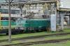L'viv Electric Locomotive Works - UZ VL11M-142b waits its turn in the works yard
