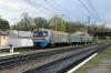 UZ ER2-349 EMU arrives into Khodoriv with 6084 1603 Stryi - Khodoriv