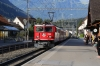RhB Ge6/6II #703 arrives into Domat/Ems with 4718 0753 Ilanz - Chur mixed train