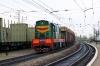 UZ ChME3-5729 runs through Khodoriv with a short trip freight