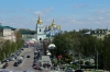 Ukraine, Kiev - from St Sophia's Cathedral Bell Tower looking towards St Michael's Golden Domed Monastery (on Easter Monday!)