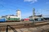 UZ ChME3-5516 brings the stock into Kyiv Pasazyrski that will form 67 1730 Kyiv Pasazyrski - Warszawa Zachodnia, while DS3-004 waits to depart with 769 1646 Kyiv Pass - Kamianets Podilskyi & ChS4-054 waits to depart with 145 1654 Kyiv Pass - Izmail