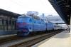 UZ ChS8-075 (1&2) waits to depart Kyiv Pasazyrski with 740 1724 Kyiv Pasazyrski - Kryvyi Rih