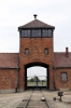 Poland, Auschwitz II - Birkenau - Main entrance gate, through which the railway spur wasn't built until the Spring of 1944