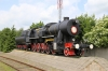 Cherniakhovsk, Kaliningrad, Russia - steam loco plinthed at Cherniakhovsk station