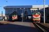 Minsk Pas. - Left, BCh ChS4T-544 with 658B 2029 (P) Brest - Vitebsk & right, BCh ChS4T-601 with 360 1933 (P) Kaliningrad Pas. - Adler