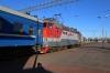 RZD ChS4T-394 departs Minsk Pas. with 95B 2000 (P) Moskva Belorusskaya - Brest