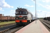 BCh TEP60-0448 arrives into Masty with 058B 1733 Hrodna - St Petersburg Vitebski