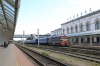 BCh TEP60-0750 at Vitebsk after arrival with 625B 2129 (P) Minsk Pas. - Vitebsk; later it detached the front coach and ran around the Vitebsk area all day doing track recording
