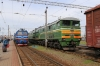 BCh 2M62-1229A waits to depart Orsha with 6171 0918 Orsha - Lepel with 2TE10M-3569A/B standing adjacent