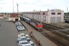 RZD ChS4T-394 arrives into Orsha with 132B 0428 Brest - Moskva Belorusskaya