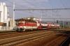 ZSSK 240098 arrives into Senkvice with Os2007 0538 Kuty - Leopoldov