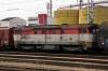 ZSSK 751208 sandwiched in the middle of a freight stabled in Leopoldov Yard