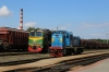BCh M62-1527 at Mogilev 2 with TGM4A-2734 running by