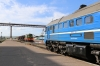 BCh 2M62U-0264A stands at Mogilev 1 having arrived with 6586 1309 Asipovichy 1 - Mogilev 1; ChME3T-7107 sits in the background with a short freight