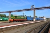 BCh ChME3T-7112 shunts stock into the bays at Mogilev 1; some of these coaches were Mogilev 1 - Moskva coaches that would be attached to 055 Gomel - Moskva that night