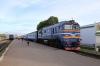 BCh 2M62U-0260B waits to depart Mogilev 1 with 6695 1929 Mogilev 1 - Mogilev 2